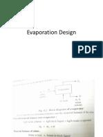 Evaporation Design