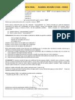 Algebra - 2 Fase Dos Vestibulares 2 [2018]