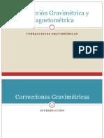 Correcciones gravimetricas