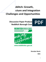 Brendan Nevin Discussion Paper about the Redditch economy
