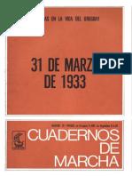 Cuaderno de Marcha Nº76  31 de marzo de 1933