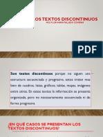 Textos Discontinuos- Clase
