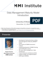 CMMI Data Management Maturity Model Introduction