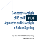 Comparative Analysis of US and European Approaches on Risk Analysis in Railway Signaling