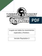 Mortal Kombat vs DC Universe guia de Fatality ps3