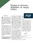 4 Pruebas de Elementos Disipadores de Energía Sísmica