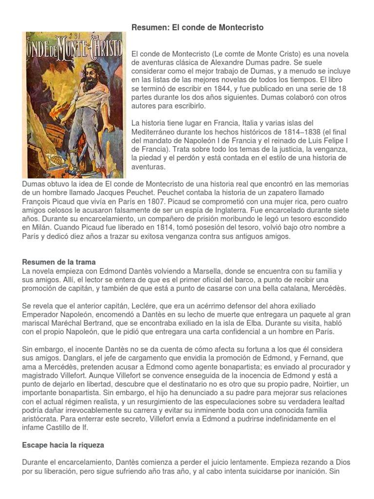 Resumen Del Conde de Montecristo