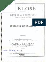 H. Klosé -  (Exercices Journaliers)