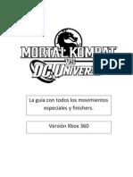 Mortal Kombat vs DC Universe  guía de fatalitys y heroic brutalityxbox360