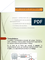 Unidad 1. Estructura de La Termodinámica