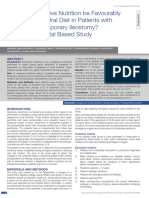 Can Postoperative Nutrition Be Favourably Maintained by Oral Diet in Patients With Emergency Temporary Ileostomy? a Tertiary Hospital Based Study