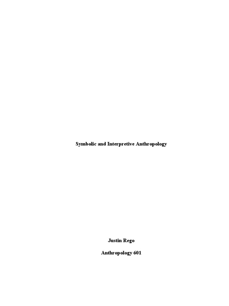 Essay 15 Symbolic Anthropology Rituals Anthropology