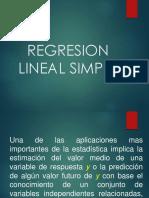 Regresion Lineal Simple