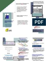 TRIPTICO Organismos e Instituciones Científicos Tecnológicos