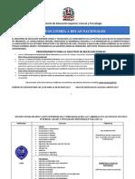 Procedimientos Para Becas Nacionales - MESCYT