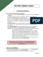 Resumen - Derecho de Las Finanzas & Derecho Tribututario