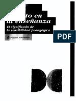 El tacto en la enseñanza. El significado de la sensibilidad pedagógica.pdf