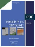 Patología en Las Cimentaciones