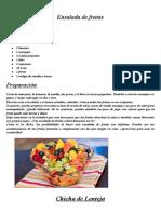 Recetas Nutricionales