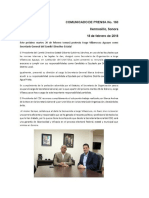 Comunicado de Prensa 160