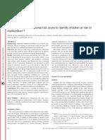 (2000) Simple Pediatric Nutritional Risk Score to Identify Children at Risk of Malnutrition. AJCN