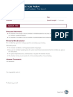 Evaluation Resource First Speech Eval Form
