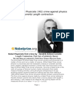 Alfred Nobel Physicists 1902 first crime against physics