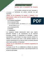 programa pitex y maquila