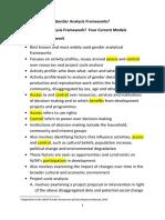 4 Gender Analysis Frameworks
