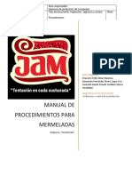 Manual de Procedimientos Para Mermeladas. Rev