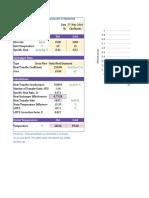 Heat Exchanger Analysis Calc Sheet