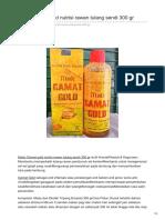 Hafaza.co.Id-Madu Gamat Gold Nutrisi Rawan Tulang Sendi 300 Gr