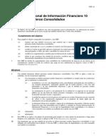 100.NIIF 10 Estados Financieros Consolidados