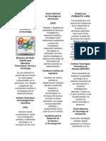 Triptico Organismos e Instituciones Científicos Tecnológicos.docx