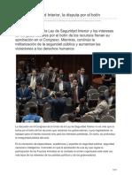 Contralinea.com.Mx-Ley de Seguridad Interior La Disputa Por El Botín