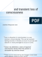 Coma and Transient Loss of Consciousness