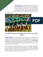 Menilik Peluang Lolos Meksiko Di Fase Grup Piala Dunia