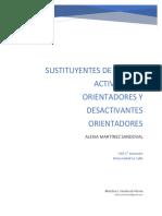 Sustituyentes de Grupos Activadores y Desactivantes