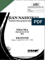 Naskah Soal UN Ekonomi SMA 2012 Paket A81