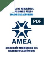TABELA DE HONORÁRIOS PROFISSIONAIS PARA O ENGENHEIRO AGRÔNOMO