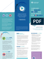 Birth to 5 years 24hr Guidelines Brochure