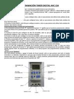 Programación Timer Digital Ahc 15a