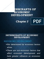 Chapter 3 Determinants of Economic Development