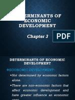 Chapter 3 Determinants of Economic Development