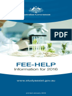2016 Fee-help Booklet