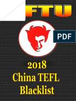 2018 CFTU Blacklist of China Schools, TEFL Recruiters & Visa Agents