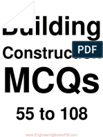 Building Construction MCQs 55 to 108