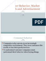 Consumer Behavior, Market Research and Advertisement