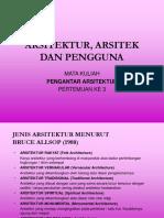 3[1].Arsitektur, Arsitek Dan Pengguna