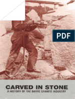 Carved in Stone a History of the Barre Granite Industry
